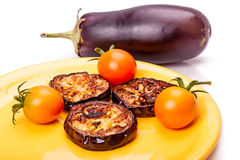 Roasted eggplant Stock Photos