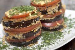 Roasted eggplant gratin Stock Image
