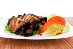 Roasted Eggplant rolls Royalty Free Stock Image