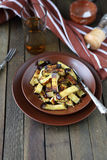 Roasted eggplant with spices in a bowl Stock Photos