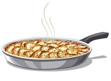 Roasted a fait des pommes de terre cuire au four Photographie stock libre de droits