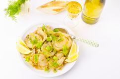 Roasted fennel discs with limes Royalty Free Stock Photos