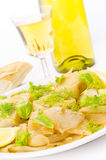 Roasted fennel discs with limes Royalty Free Stock Photo