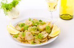 Roasted fennel discs with limes Royalty Free Stock Images