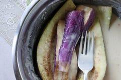 Roasted Fijian Eggplants Royalty Free Stock Photos