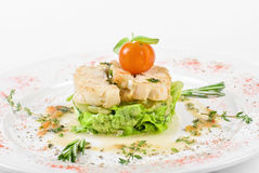 Roasted filet halibut Royalty Free Stock Images