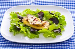 Roasted fish with balsamico Stock Images