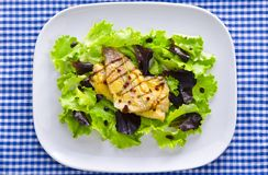 Roasted fish with balsamico. Roasted one fish with balsamico cream ones royalty free stock image