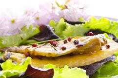 Roasted fish with balsamico. Roasted one fish with balsamico cream ones stock photos