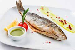 Roasted Fish dish Stock Image