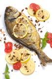 Roasted fish  Dorado Royalty Free Stock Photo