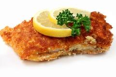 Roasted  fish with lemon Stock Photography