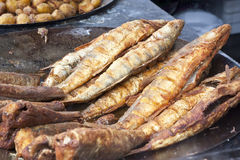 Roasted fish stock photo