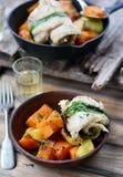 Roasted fish rolls Stock Image