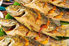 Roasted fish for sell Stock Photo