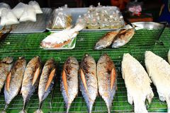 Roasted fish shop Stock Images
