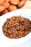 Roasted flaxseeds Royalty Free Stock Photo
