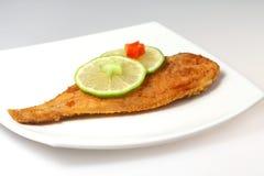 Roasted  Flounder ( plaice ) Stock Images