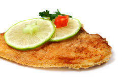 Roasted  Flounder ( plaice ) Stock Photos