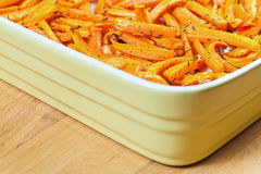 Roasted fresh organic carrots with olive oil Royalty Free Stock Photo