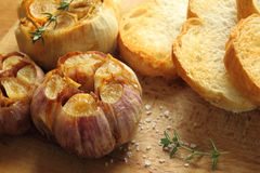 Roasted garlic. Royalty Free Stock Photos