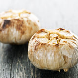 Roasted garlic bulbs Royalty Free Stock Images
