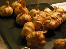 Roasted garlic in a farmer's market. In Cork, Ireland Royalty Free Stock Photography