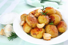 Roasted Garlic Potatoes royalty free stock photos