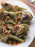 Roasted Globe Artichokes Royalty Free Stock Photography