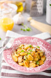 Roasted gnocchi with chicken Royalty Free Stock Photo