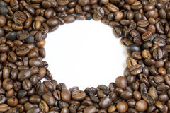 Roasted grains of black coffee. Stock Images
