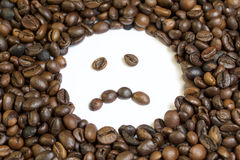 Roasted grains of black coffee. Royalty Free Stock Photography