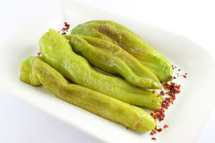 Roasted Green Peppers Royalty Free Stock Photos