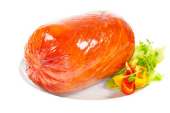 Roasted Ham for Christmas with chill and Lemon Royalty Free Stock Photography