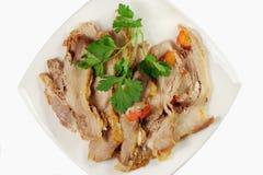 Roasted ham slice Stock Photo