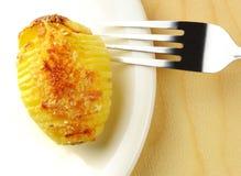 Roasted Hasselback potato Royalty Free Stock Image