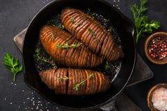 Free Roasted Hasselback Sweet Potato Royalty Free Stock Photos - 109280368