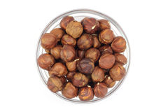 Roasted hazelnut kernels Stock Photo