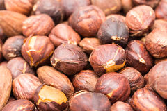 Roasted Hazelnuts Royalty Free Stock Photos