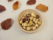 Roasted hazelnuts Stock Photos