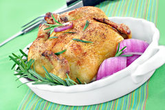 Roasted Hen Close Up royalty free stock image