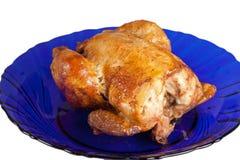 Roasted hen on dish Royalty Free Stock Image