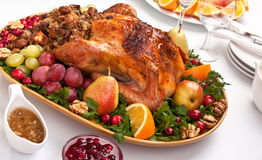 Roasted holiday turkey Royalty Free Stock Photo