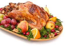 Roasted holiday turkey Royalty Free Stock Image