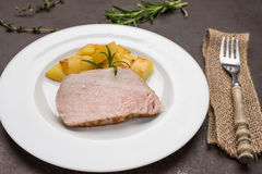 Roasted iberico pork loin Stock Image