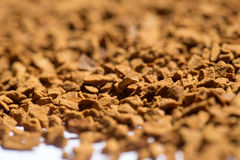 Roasted instant coffee powder Royalty Free Stock Photo
