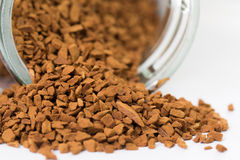Roasted instant coffee powder Royalty Free Stock Images