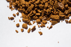 Roasted instant coffee powder Stock Photo