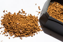 Roasted instant coffee powder Stock Photography