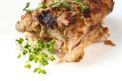 Roasted juicy poultry roulade Royalty Free Stock Images